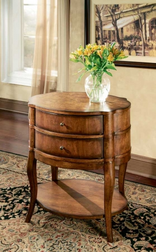 Umber Oval Side Table