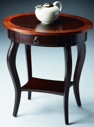 532211 Cherry Nouveau Oval Accent Table