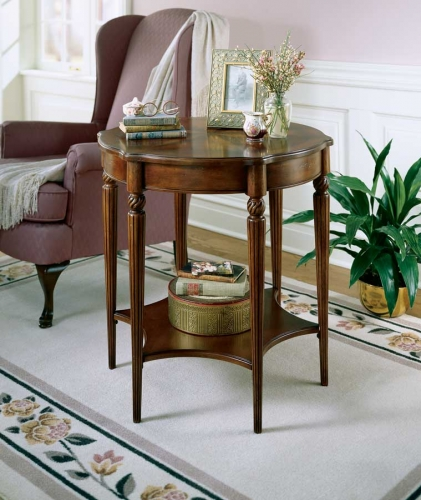 0557024 Plantation Cherry Accent Table