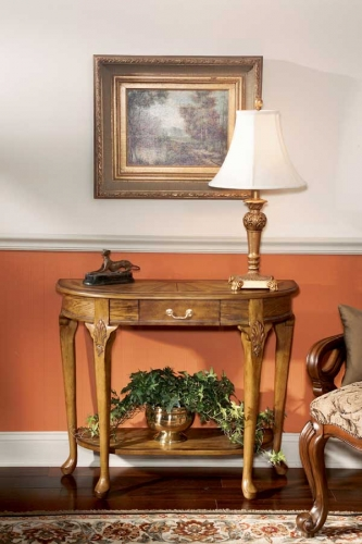 0653001 Vintage Oak Console Table