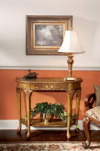 0653001 Vintage Oak Console Table