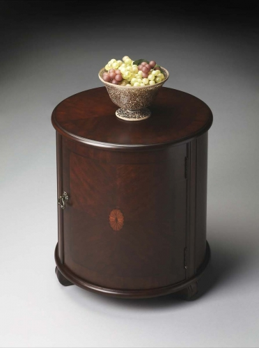 1260024 Drum Table - Plantation Cherry