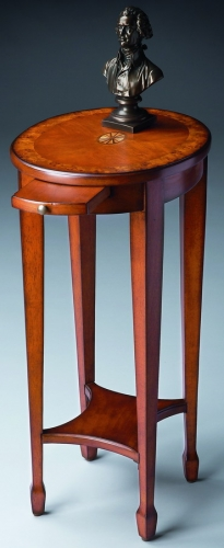 1483101 Olive Ash Burl Accent Table
