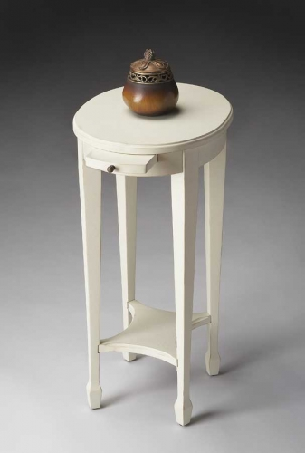 1483222 Cottage White Accent Table