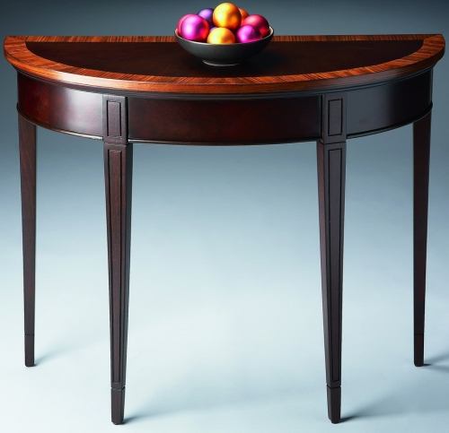 1533211 Cherry Nouveau Demilune Console Table