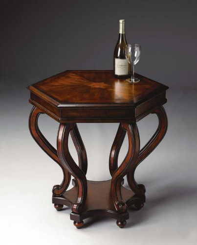 1560024 Plantation Cherry Accent Table