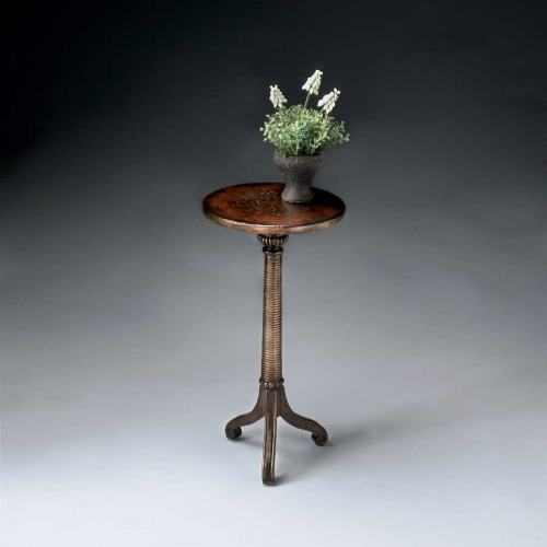 1583119 Brown and Gold Pedestal Table
