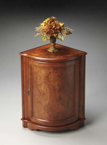 2115101 Corner Cabinet - Olive Ash Burl