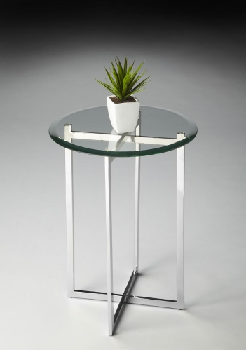 2385220 Accent Table - Nickel
