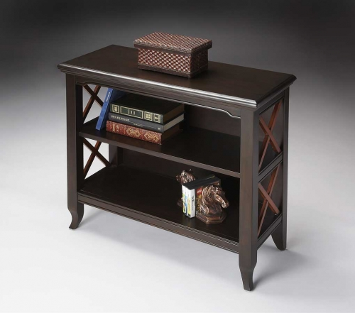 3044109 Transitional Cherry Low Bookcase