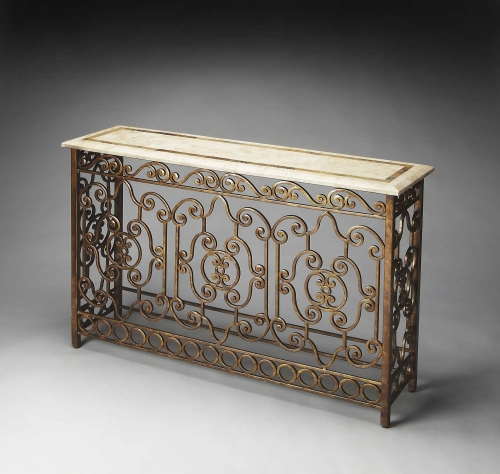3108025 Metalworks Console Table
