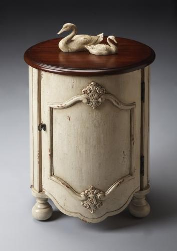 4001115 Vanilla and Cherry Drum Table