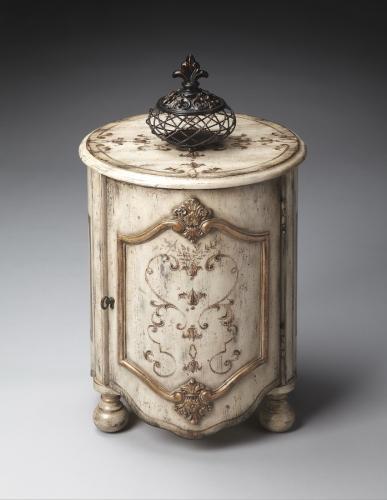 4001238 Guilded Cream Drum Table