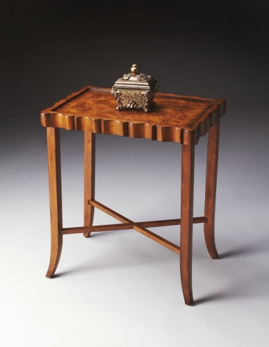 5016101 Olive Ash Burl Tea Table