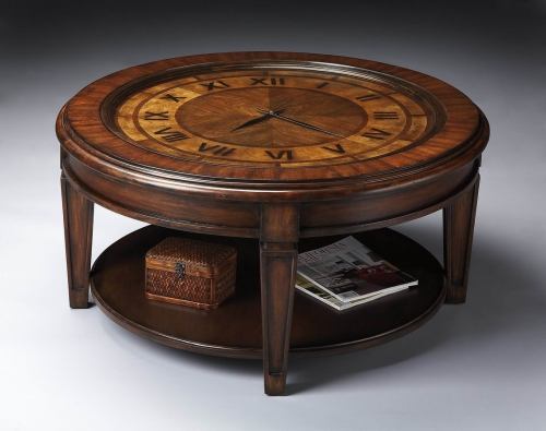 6047070 Heritage Clock Cocktail Table