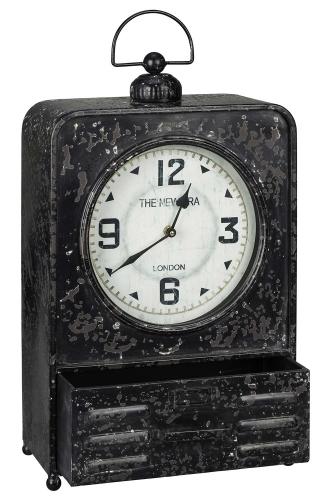 Patton Table Clock - Black