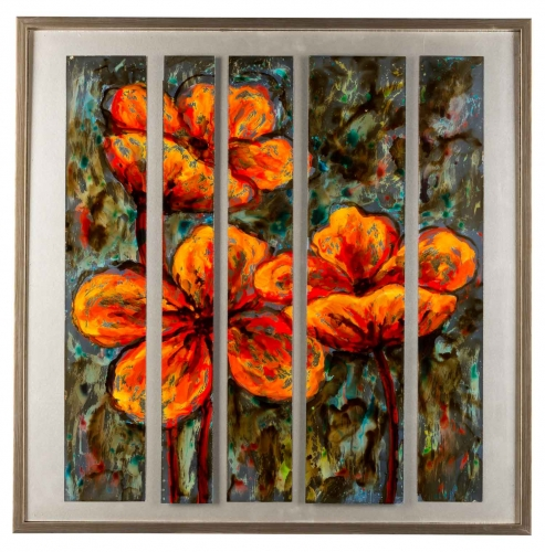 40810 Flowers - Orange Canvas Painting