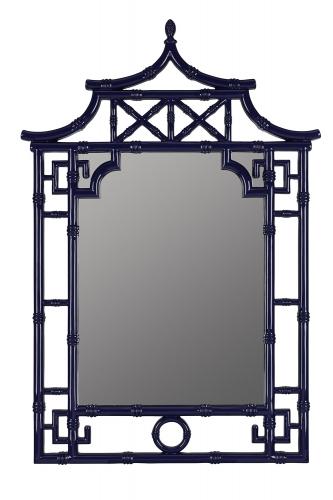 Pinlo Mirror - Lacquered Cobalt