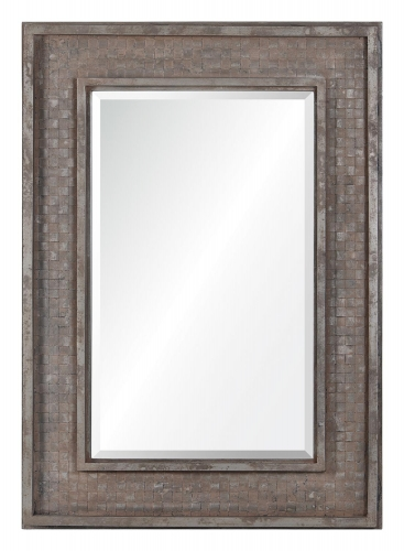 Pendle Mirror - Rusted Brown