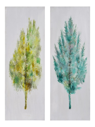 Seasons Set of 2 Canvas Painting