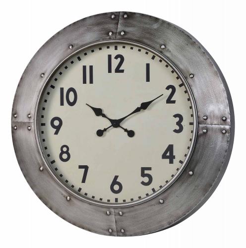 Garrison Clock - Gray Metal/Black
