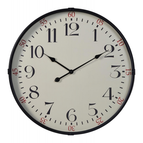 Morton Clock - Black/White