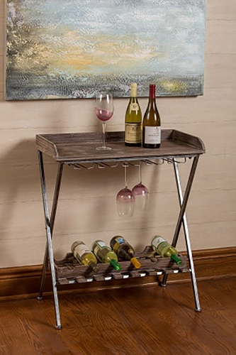Calistoga Wine Rack - Aged Wooden