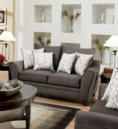 Cupertino Loveseat - Flannel Seal