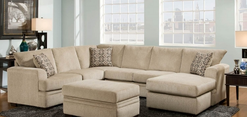 Atherton 2 pc Sectional Sofa Set - Cornell Platinum