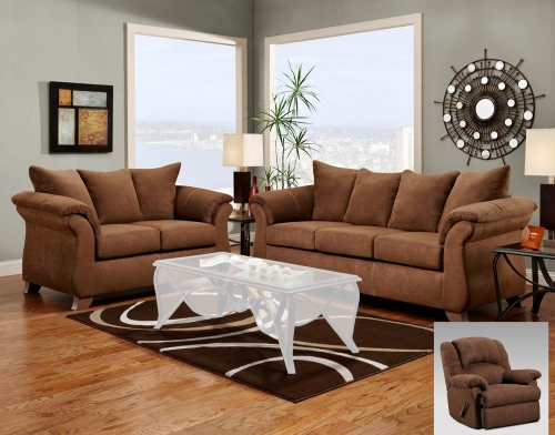 Payton Sofa Set - Aruba Chocolate