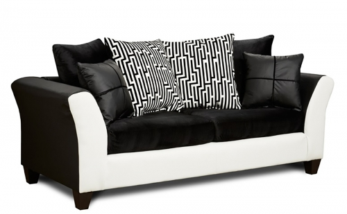 Bates Sofa - Black/White