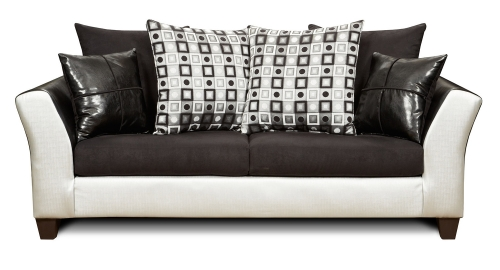 Bates Sofa - Brown/White