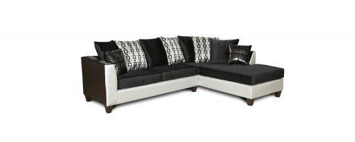Bates Sectional Sofa - Black/White