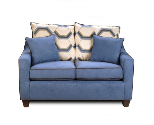 Georgia Loveseat - Victory Galaxy/Sussex Cobalt