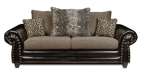 Colbie Sofa - Denver Black/Romance Graphite