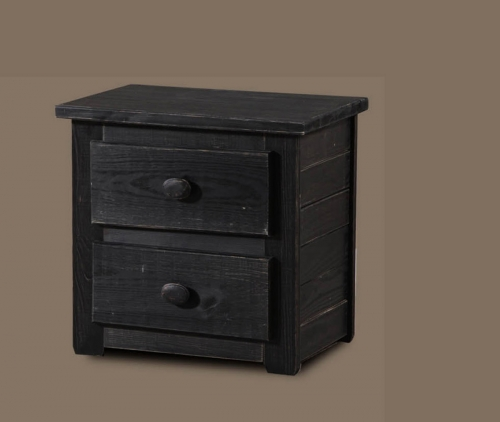 Night Stand - Black Distressed