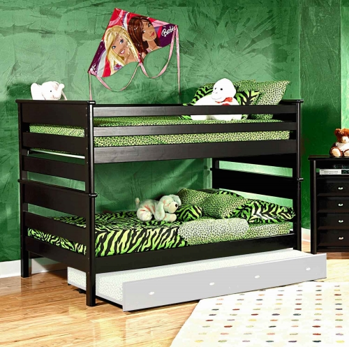 3534524-4547 Full Over Full Bunk Bed - Black Cherry