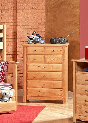 Chelsea Home 3534537-C 8 Drawer Chest - Caramel