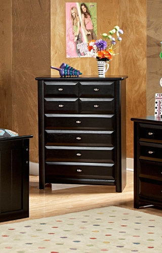 3534537 8 Drawer Chest - Black Cherry