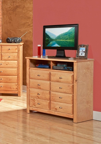 Chelsea Home 3534539-C Media Chest - Caramel