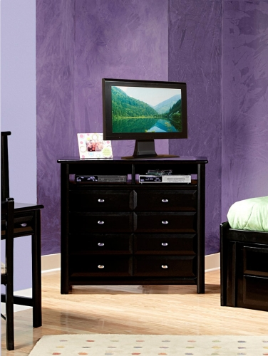 Chelsea Home 3534539 Media Chest - Black Cherry