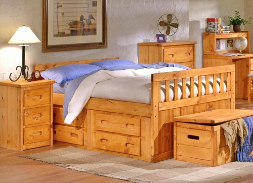 3544722-4816 Full Bed with Storage - Cinnamon