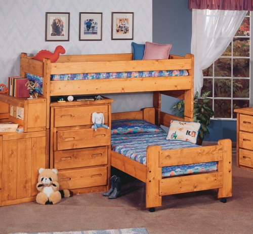 3544730-4741 Twin Over Twin Junior Loft Bed - Cinnamon