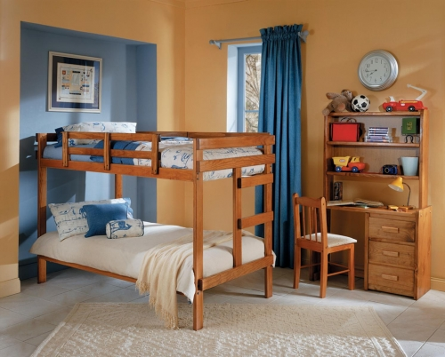 3624001 Twin Over Twin Bunk Bed - Honey