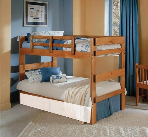 3626021 Twin Over Twin Split Bunk Bed - Honey