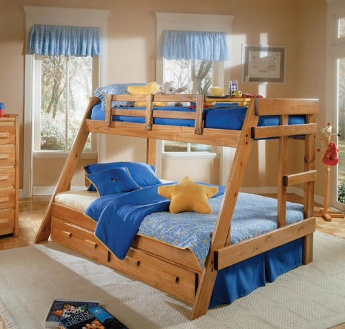 3626501-S Twin Over Full A Frame Bunk with Underbed Storage - Honey