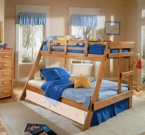 3626501 Twin Over Full A Frame Bunk - Honey