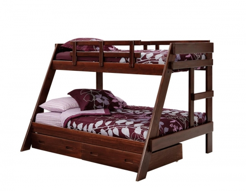 3626503-S Twin Over Full A Frame Bunk with Underbed Storage - Dark