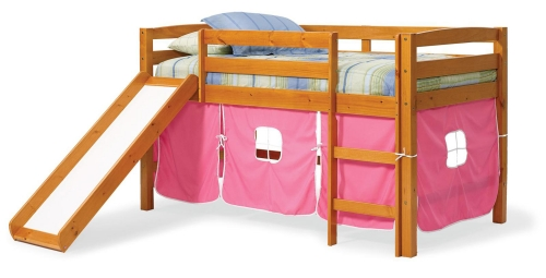 3645000-P Twin Tent Bed with Slide - Honey