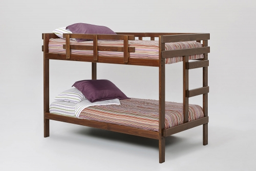 Twin Over Twin Rustic Bed - Rustic Brown